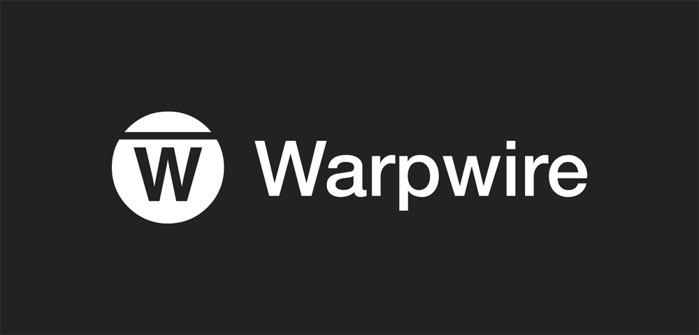 Warpwire horizontal logo light on dark
