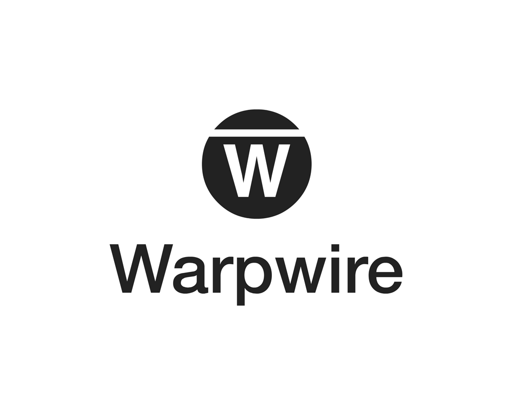 Warpwire vertical logo dark on light