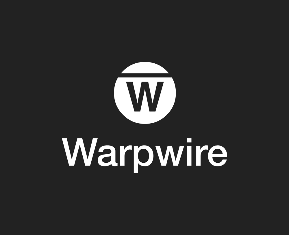 Warpwire horizontal logo dark on light