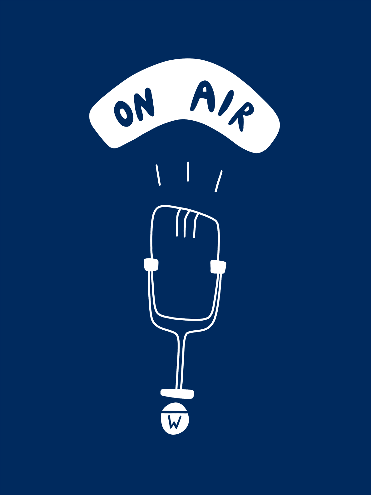 A microphone on air