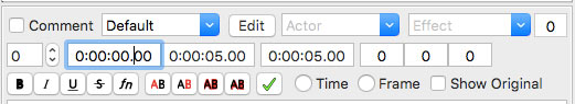 Timecode user input boxes for selecting particular segment