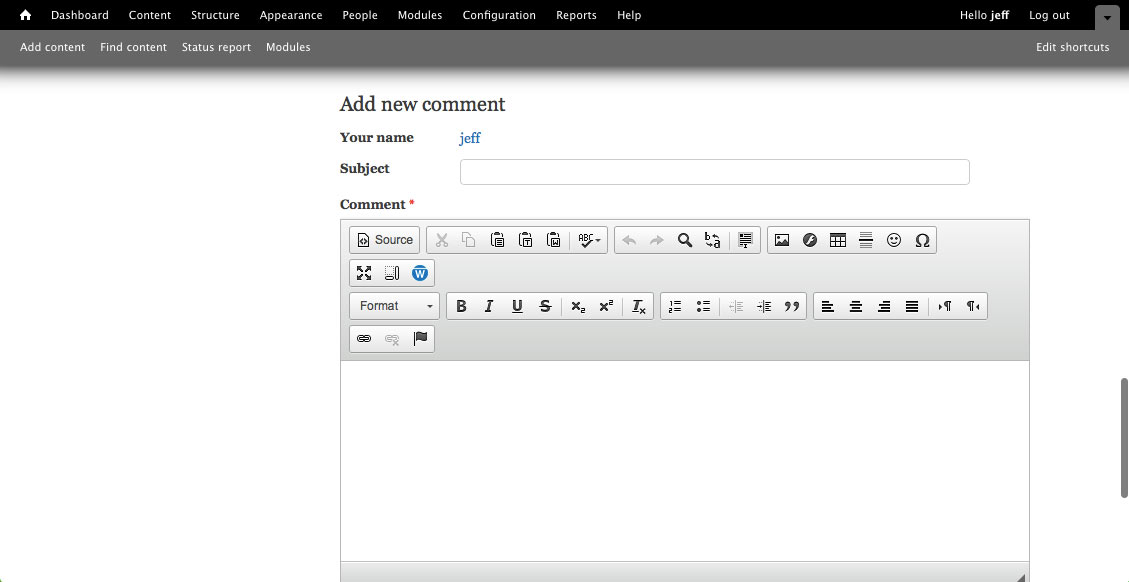 New Drupal Comment interface