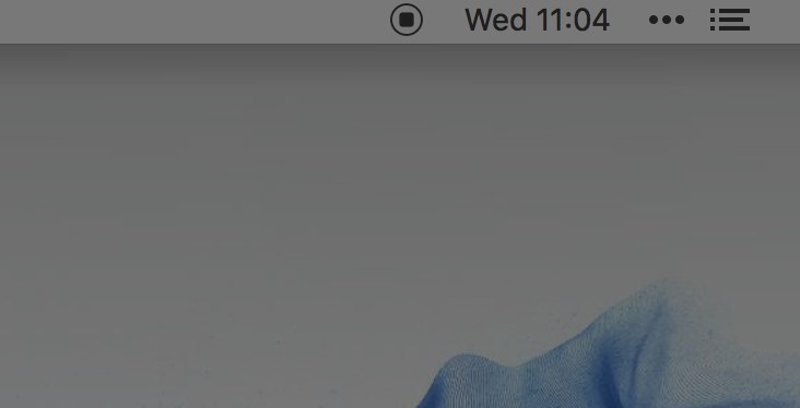 Quicktime square stop icon in menu bar